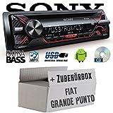 FIAT Grande Punto 199 - Sony CDX-G1200U - CD/MP3/USB Autoradio - Einbauset