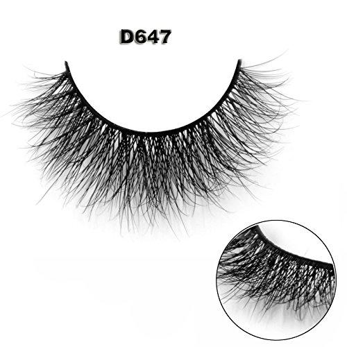 45 Modell 3D 100% Handgefertigte Künstliche Wimpern Dickes Augen Lashes Falsche Wimpern D647 (Wimpern 100 Echthaar)