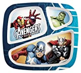 Zak Designs Avengers Assemble Divided Kids Dinner Plate, Set of 2 by Zak Designs