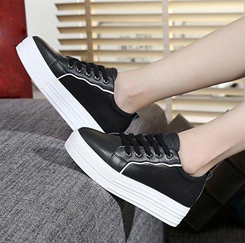 chaussures muffin chaussures de sport a augmenté chaussures de loisirs d'automne dame Black
