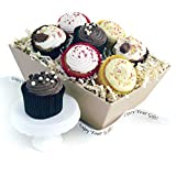 Cupcakes Gifts Delivered Send a Tray of Eight Mixed Heavenly Cupcakes with Flavours of Chocolate Caramel Strawberry and Lemon - SGS-046