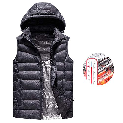 51edbxDa5xL. SS500  - OUTANY Men's Upgraded Electric Heating Vest Lightweight USB Replaceable Heating Warm Vest Down Windproof (Unisex Style)