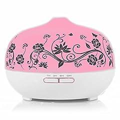 Idea Regalo - BESTEK 300 ml Vetro Diffusore di Aromi e Oli Essenziali Ultrasuoni con 7 colori Lampada e Timer, Vaporizzatore Aromaterapia Essenze, Autospegnimento …