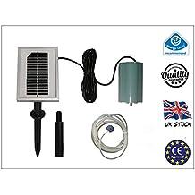 Oxigenador de Energía Solar de 120L/H - Bomba de Oxígeno de Agua de Estanque - Aireador