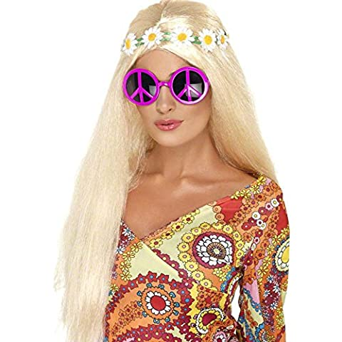 Pink hippy glasses for adults (accesorio de disfraz)