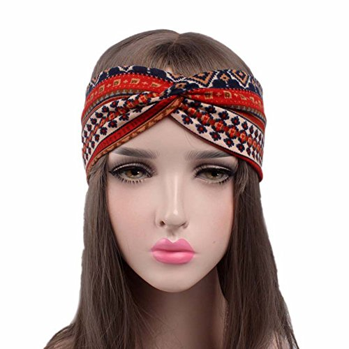 Qinlee Elastische Stirnband Ethn...