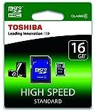 Toshiba SD-C16GJ(6A 16GB High Speed Standard Class 4 MicroSDHC Card