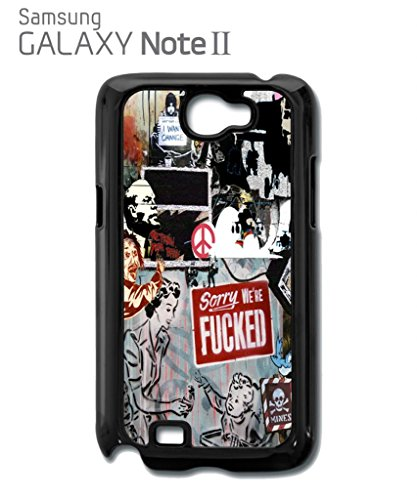 Banksy Street Art Graffiti Cool Funny Hipster Swag Mobile Phone Case Back Cover Hülle Weiß Schwarz for Samsung Galaxy S4 Black Weiß