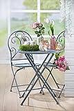 Homeshop Gartenmöbel-Set Tisch und 2 Stühle Eisen Grau