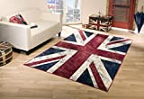 Taracarpet Union Jack Vintage Teppich Flagge UK (120x170 cm)