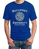 Gallifrey University Blau Large T-Shirt - Doctor Time Academy Who