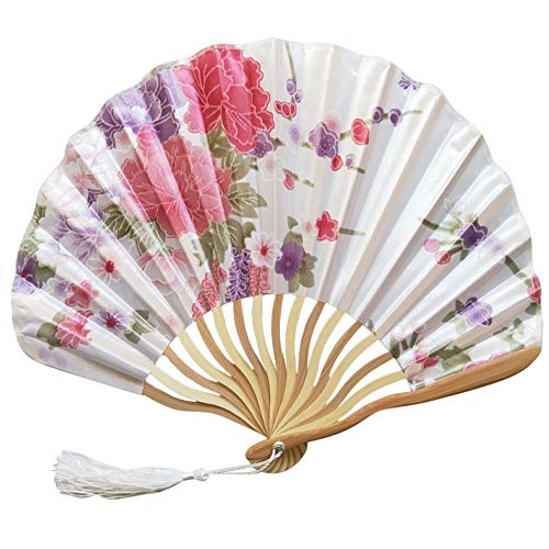 Chinesisches Braut Fächer Hochzeit Handfächer Japanischer Klapp Bambus Fan-hölzernes Handgemachtes Vorzügliches Festival Geschenk Party Cosplay Papierfächer Faltbar Papier Fächer Wohnzimmer Deko -