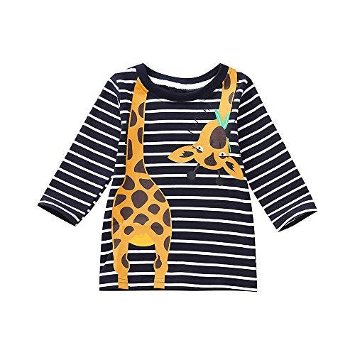 Yanhoo Kinderkleidung,Kinder Baby Jungen Mädchen Langarm Gestreifter Giraffen Druck Top T-Shirt Pullover Sweatshirt Pulli