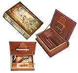 The Habit - Original Kavatza Secret Rolling Stash Book Box - Wooden Stash Box Like Antique Book (Small 18.5 x 13cm) by The Habit