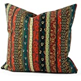 Lavievert Ethnic Style Housewares Pillow Cover Canvas Fabric Pillow Throw Pillow Pillow Cover Cushion Cover 20x20 Inches 1442-03