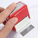 Caveen Identitätsschutz Stempel Identität Diebstahl Stempel Printy Datenschutzstempel Selbstfärbender Datenschutz-Rollstempel