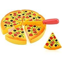 Internet Juguetes compresivos niños Niños Rebanadas de pizza Ingredientes Pretender Cena Cocina Jugar Comida Juguete de