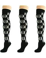 Damen Gemusterte Socken Overknee Kniestrümpfe Über Knie Strümpfe (6 Paar)