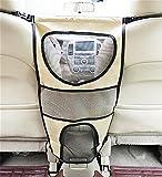 LOHUA Hunde-Barriere für das Auto, inklusive Taschen/Organizer zum Verstauen von Leinen und anderen Utensilien,Reisen Sie sicher , Beige