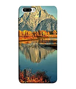PrintVisa Designer Back Case Cover for Huawei Honor 6 Plus (The Scenic Design Of Mountains Lake And Trees )