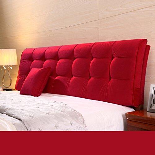 Dossier De Chevet Coussin ergonomique moderne Linge de tissu Linge de lit sans poche Grand dossier Ensemble de coussin Housse de lit Big Pillow Pure Color 58 * 190cm (Couleur : J)