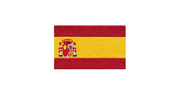 60/x 35/mm Spanish Flag Spain Barcelona Flag Sew-On Badge//Iron-On Patch 0678/B