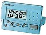 Casio Digital Alarm Clock, Aqua Blue