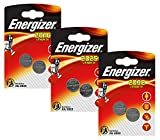 Energizer 10123819B - Lithium Knopfzellen Set, CR 2016/2025/2032, 3er Pack, silber