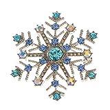 Generic Xmas Snowflake Shiny Crystal Rhi...
