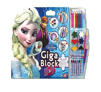Libro Pegatinas Para Pintar Giga Block Frozen 5 En 1 por Jugatoys
