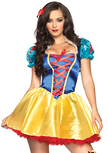 Leg Avenue 85516 - Fairytale Snow White Kostüm, Größe S/M  (EUR 36-38)