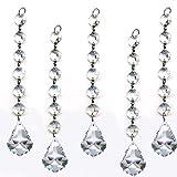 VStoy teilig Diamond Kristall Girlande, zum Aufhängen Hochzeit Strand, mit 6 Perlen und 1,5 pendalogue Prism Anhänger Accent Made mit Magnificent Kristall