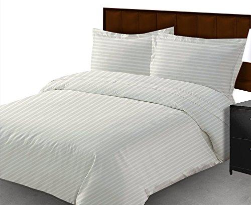 Baumwolle Queen-size-blatt-sets (Smile Blatt 200TC Ägyptische Baumwolle Queen Size 3-teilig Spannbetttuch, weiß gestreift pattern-11) Zoll Tiefe Pocket)