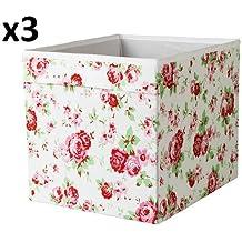 x3 Cath Kidston ROSALI caja de almacenaje para unidad expedit IKEA DRONA (conjunto de tres)