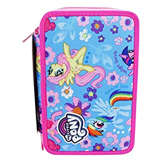Seven My Little Pony Blue Wings Estuche Escolar Làpices de colores Plumier Triple para Ninos