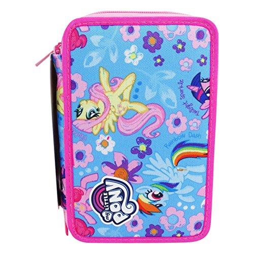 Seven my little pony blue wings astuccio tre zip portapastelli portapenne colori pennarelli scuola