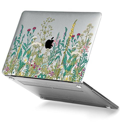 GMYLE MacBook Pro 13 Hülle 2017 & 2016 - Plastik Hülle für Das aus MacBook Pro 13 Zoll von 2017 & 2016 A1706/A1708 mit/Ohne Touch Bar (A1706/A1708)- Garten Blumenmuster