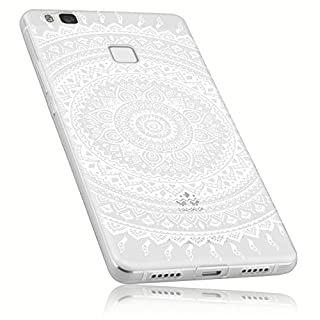 mumbi UltraSlim Hülle für Huawei P9 Lite Schutzhülle transparent im Mandala Design (Ultra Slim - 0.55 mm)