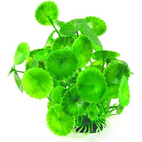 Planta Artificial Decoración para Acuario Plástico Color Verde