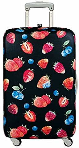 LOQI JUICY Strawberries Luggage Cover - Kofferhülle (Masse 60 Strawberry)
