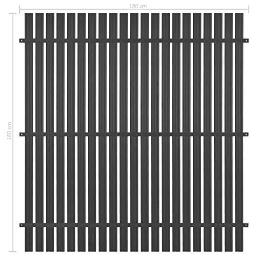 Tidyard Zaunelement Aluminium 180 x 180 cm Anthrazit Fence Element Aluminium Privacy Fence Garden Fence Wind Protection Fence Fence Fence Panel Fence