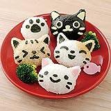 BaBaSM Entzückend Reis Ball Mold 4 Teile/satz PP Kawaii Katze Reis Form Sushi Ei Schokoladenform DIY Küche Werkzeug