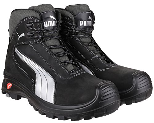 PUMA überlappend Mens Safety Work Boot Schwarz
