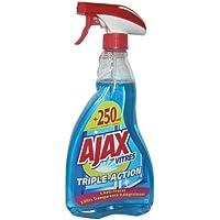 Ajax Produit Nettoyant Vitres Ajax Triple Action Spray Pour des Vitres 100 % Sans Traces Formule 3 En 1 Flacon Spray…
