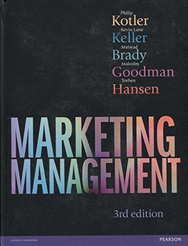 Marketing Management 3rd edn