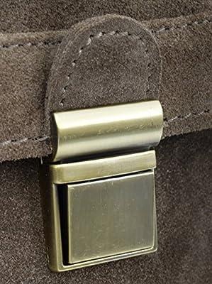 """Gusti Cuir studio """"Mathilda"""" sac à bandoulière sac à main femmes sac avec anse sac porté épaule en cuir véritable sac en cuir cabas besace en cuir femmes filles marron 2H35-26-1"""