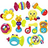 WP 10pcs Baby Rattles Teether, Shaker, Grab and Spin Rattle, Musical Toy, Unique