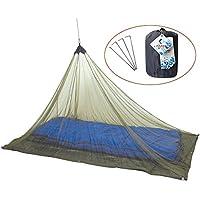 HAPEE Hauteur plus Moustiquaire pour Lit de Camping de Voyage 1 Personne