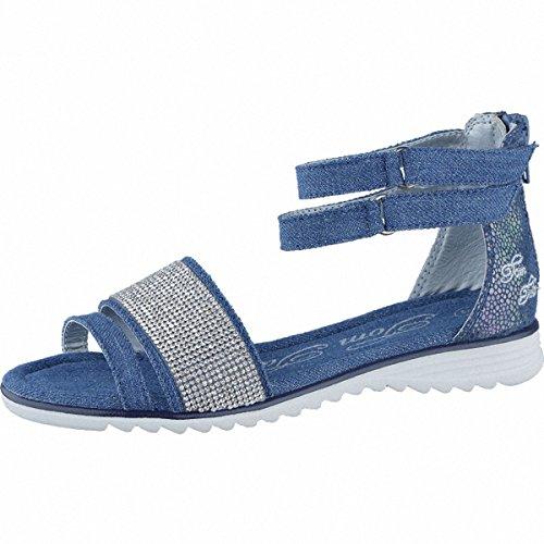 TOM TAILOR coole Mädchen Textil Sandalen jeans, TOM TAILOR Laufsohle, 3538106/33 Blau