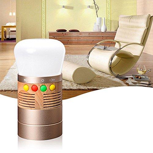 Emergency Lantern (LaDicha 300Lm Led Portable Camping Emergency Lantern Bluetooth Music Speaker Light - Gold)